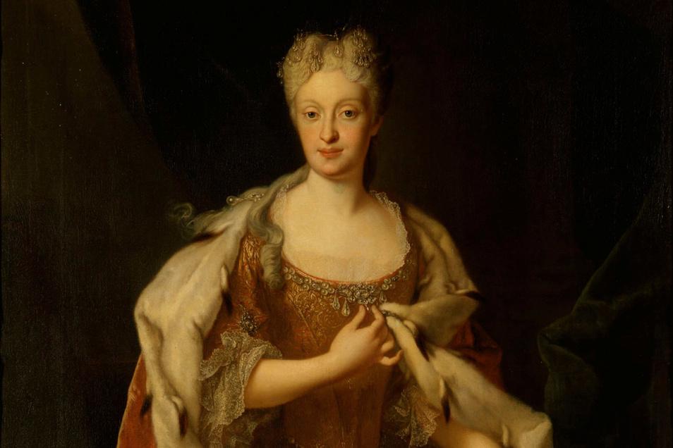 Kaisertochter Maria Josepha, Ehefrau August III. König von Polen, nach 1719 als sächsische Kurprinzessin auf einem Gemälde von Louis des Silvestre.