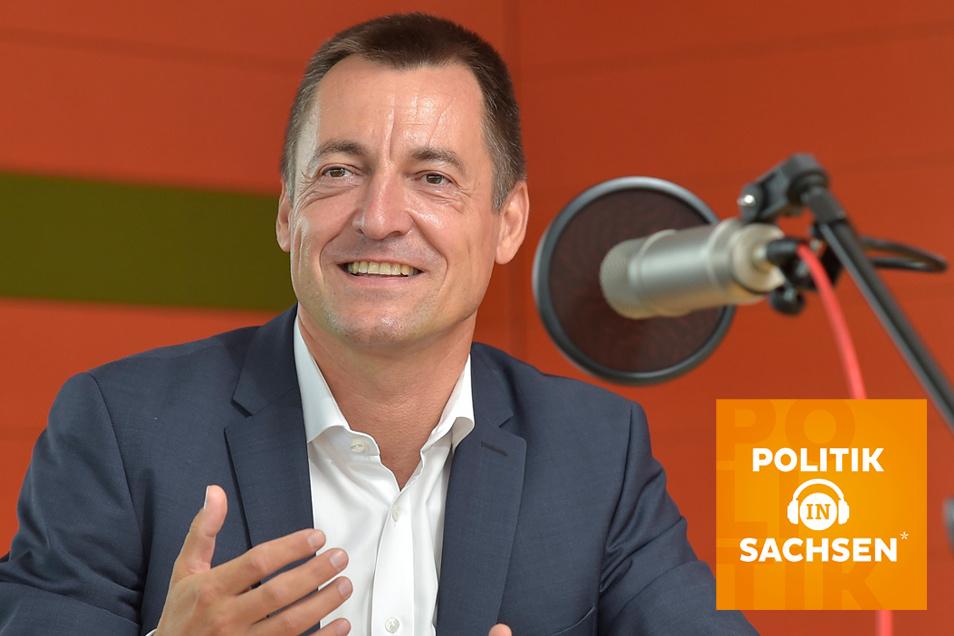 """Torsten Herbst, Spitzenkandidat der FDP zur Bundestagswahl in Sachsen, ist zu Gast im Podcast """"Politik in Sachsen""""."""