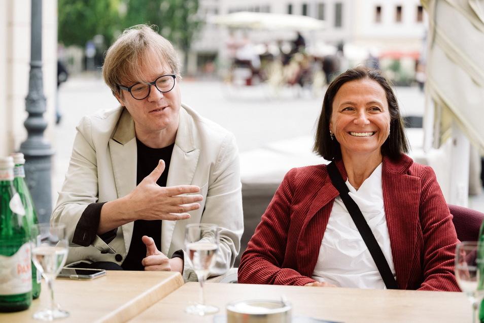 Wollen das diesjährige Classic Open Air vor der Frauenkirche zum Event für jedermann machen: Initiatorin und Sängerin Barbara Krieger und Kooperationspartner und Cellist Jan Vogler.