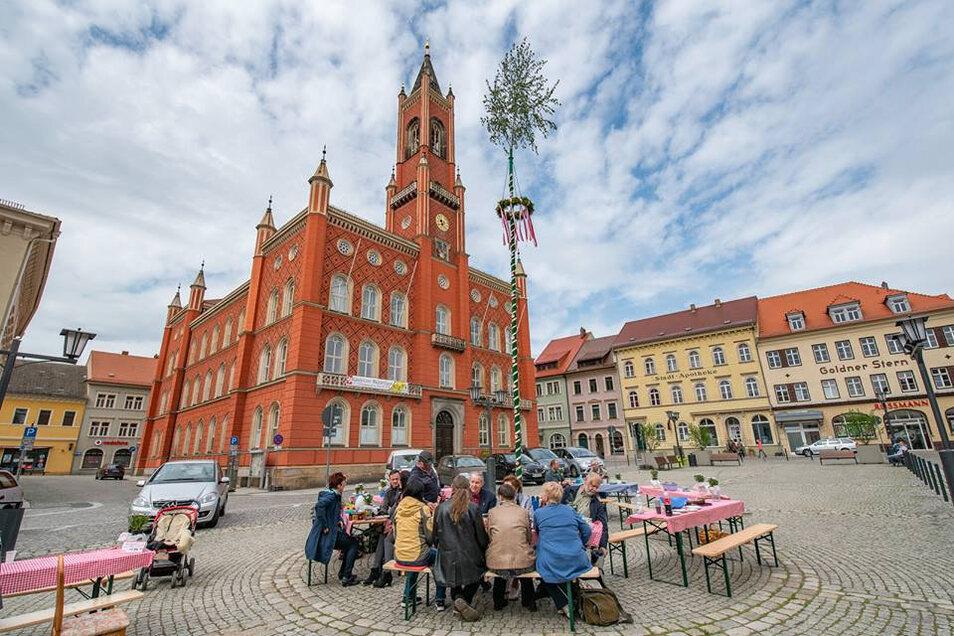 Picknick unterm Maibaum auf dem Kamenzer Marktplatz - das wird es in diesem Jahr nicht geben.