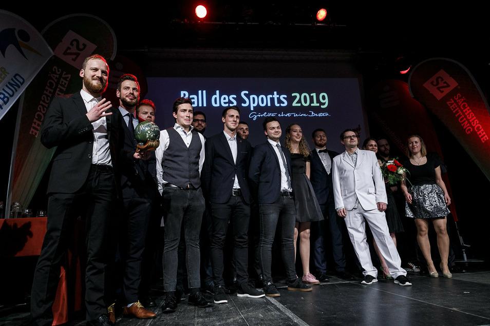 Die Görlitzer BC Squirrels wurden beim Sportlerball 2019 zur Mannschaft des Jahres gewählt.