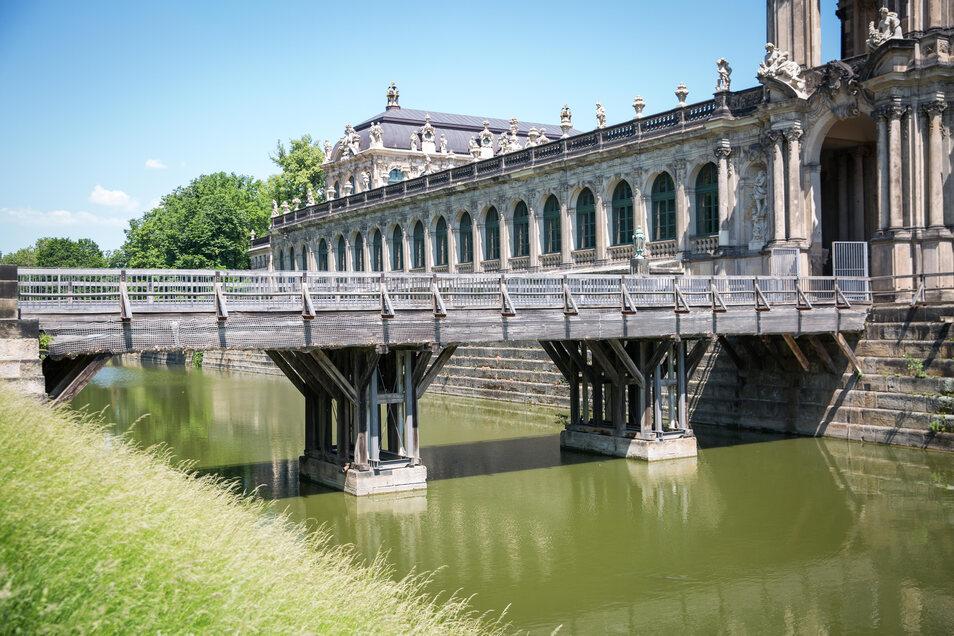Die Zwingerbrücke ist marode. Sie wurde 1929 fertiggestellt und nach der Zerstörung bei den Angriffen 1945 wieder aufgebaut.