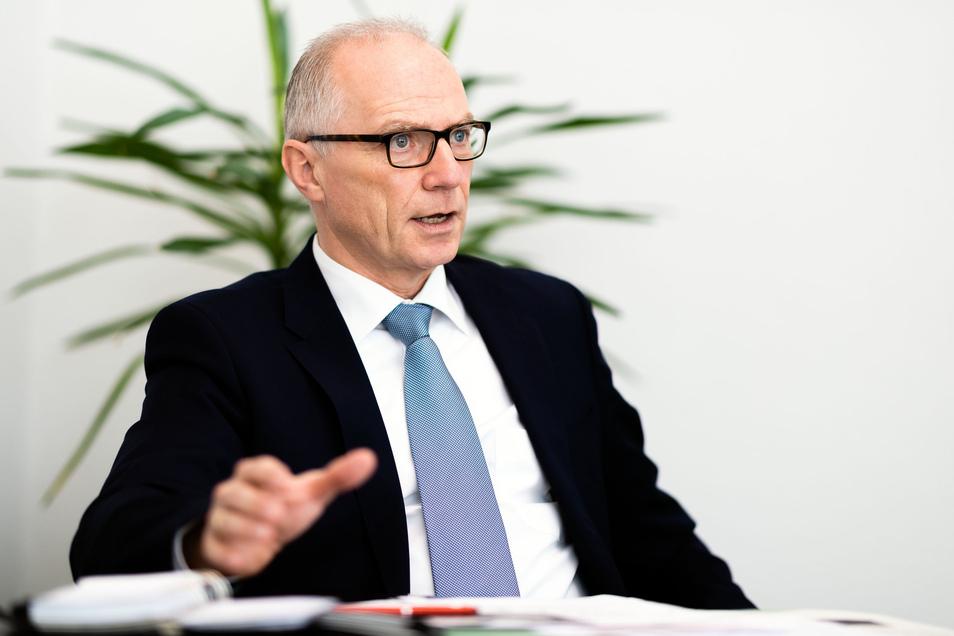 Mike Ruckh (CDU), Oberbürgermeister von Sebnitz, im Interview zum Jahresauftakt.