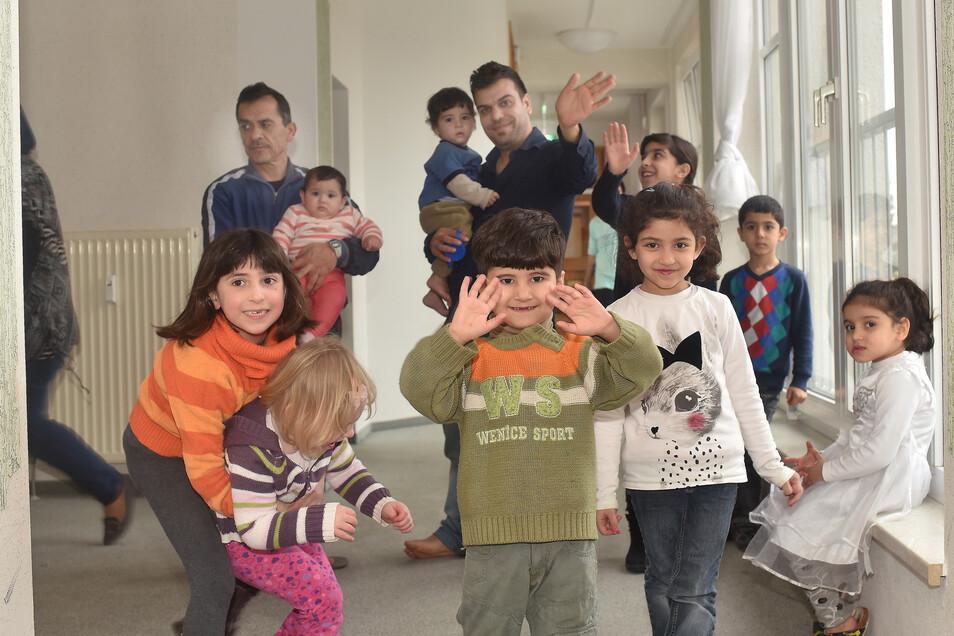 Flüchtlinge in einer Gemeinschaftsunterkunft im Landkreis.