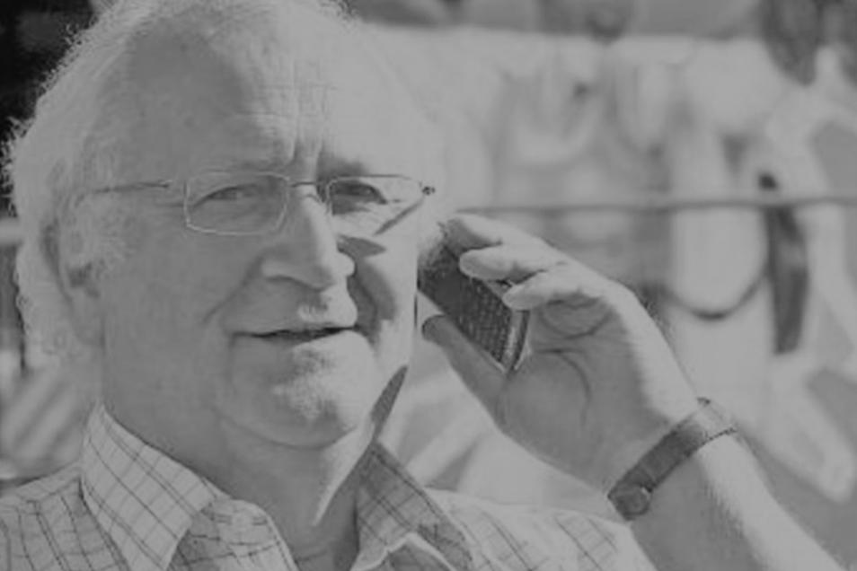So kannten ihn die Löbauer: Werner Engemann war oft im Dienste des Gemeinwohls unterwegs. Jetzt ist er verstorben.