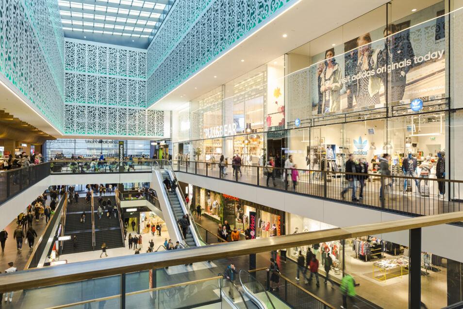 Einzigartiges Einkaufserlebnis in Dresden: Die Geschäfte in der Centrum Galerie an der Prager Straße haben am 1. Oktober bis 23 Uhr geöffnet.