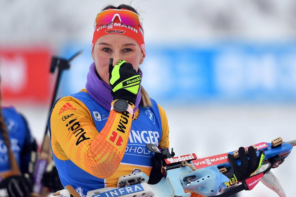 Denise Herrmann haderte in dieser Saison oft mit ihren Leistungen - und ist jetzt nur noch die deutsche Nummer 2.