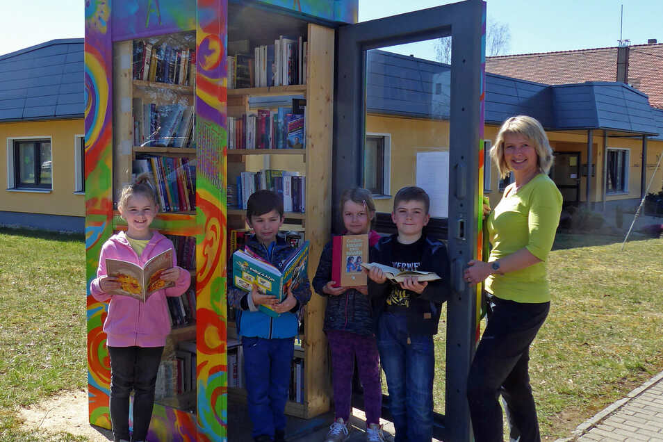 Die Bücherbox in Leutersdorf.