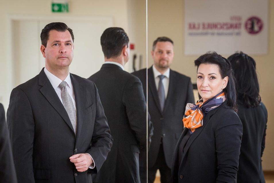 Nicht zufällig tragen Sabine und Tassilo Lax Schwarz, genau wie ihr Kollege Jens Pötschke (m.). Die Tanzlehrer trauern um ihren Beruf und ihre Unternehmen.