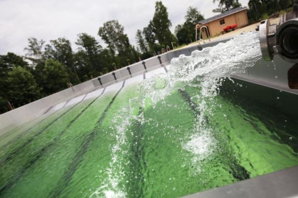 Das Teichwiesenbad in Ottendorf-Okrilla. Es öffnet am 11. Mai.