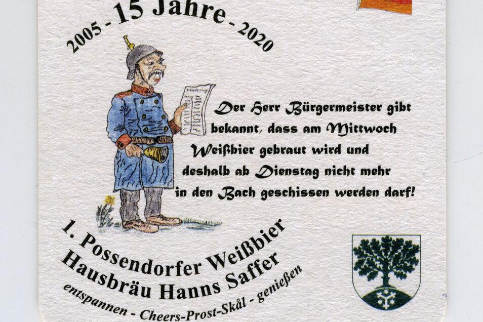Ein neues Sammlerstück zum eigenen Hausbräu-Jubiläum hat Hanns Saffer entworfen.