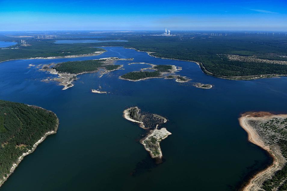 Das Speicherbecken Lohsa II im vergangenen Jahr – wichtiger Teil des Wasserrückhaltesystems für die Spree.