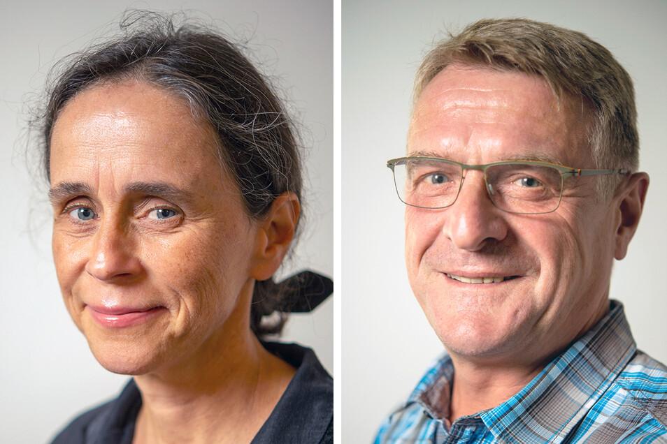 Stadträte im Clinch: Simone Hartmann (CDU) und Frieder Haase (Freie Wähler).