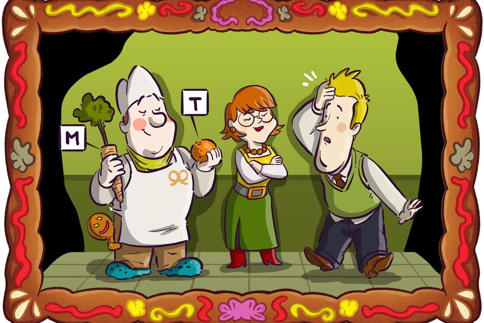 Detektiv Spätzle und Anneliese Sachse kommen mit der Hilfe des Bäckers dem Stollenfälscher auf die Schliche.