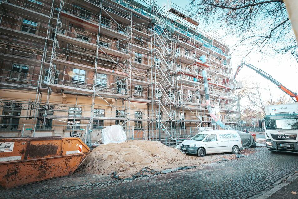 Seniorengerechter Wohnraum entsteht in drei Gründerzeithäusern auf der Leipziger Straße in der Görlitzer Innenstadt.