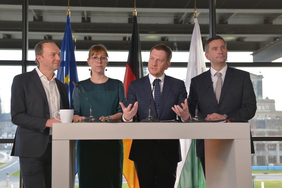 Grüne, CDU und SPD wollen in Sachsen erstmals zusammen regieren.