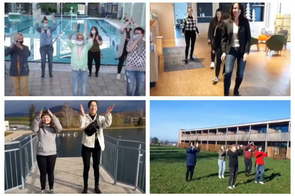 """So tanzte das Team des Trixi-Parks im Dezember die """"Jerusalema Challenge""""."""