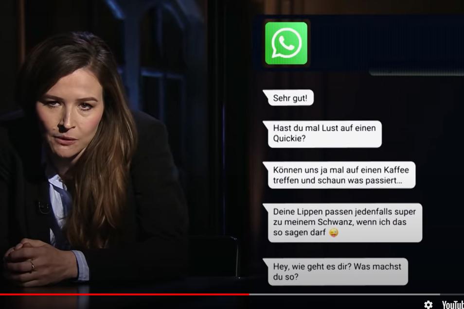 In der Sendung präsentierte unter anderem Katrin Bauerfeind übergriffige Chatverläufe..