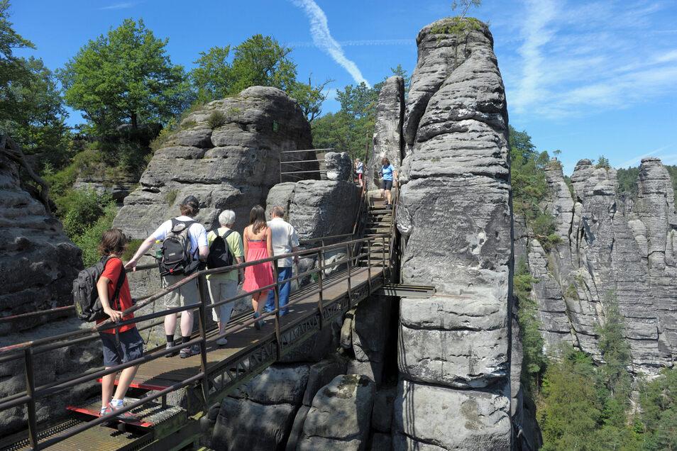 Besonders beliebt bei Besuchern ist die Sächsische Schweiz.