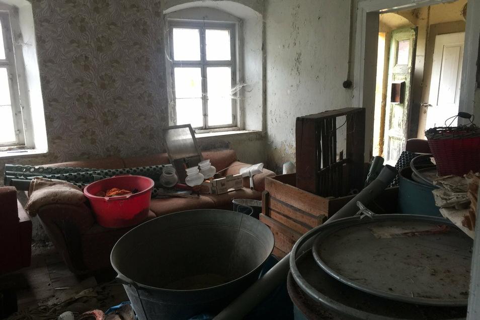 Der erste Raum im Haus, der entrümpelt wurde. Foto: privat