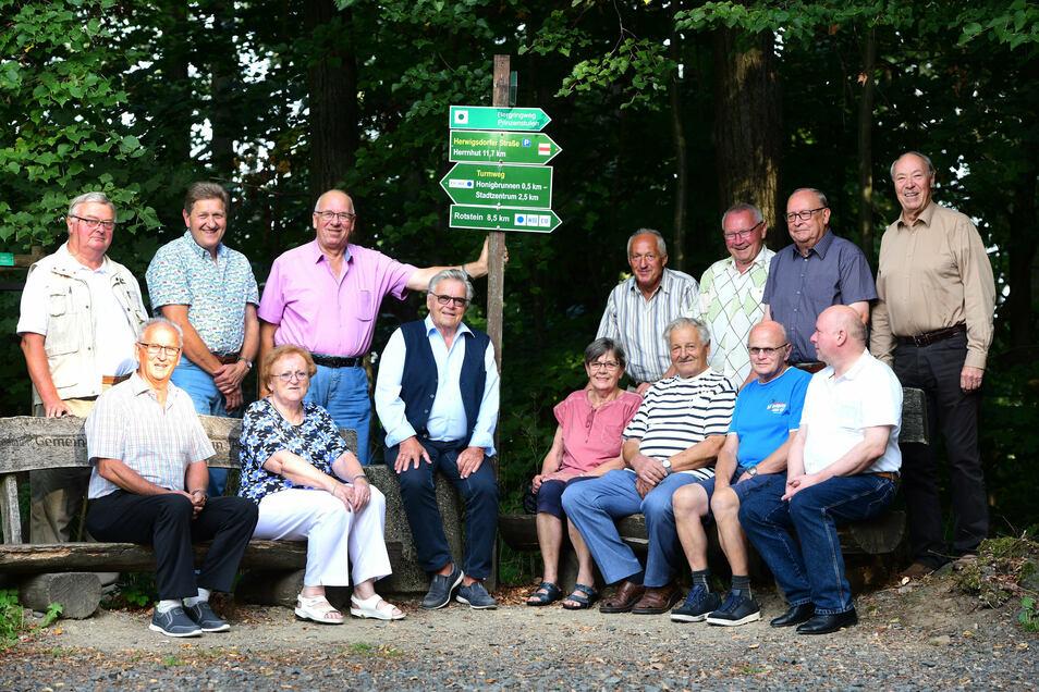 Auf dem Löbauer Berg trafen sich die ehemaligen Bürgermeister, erzählten sich Geschichten von früher.