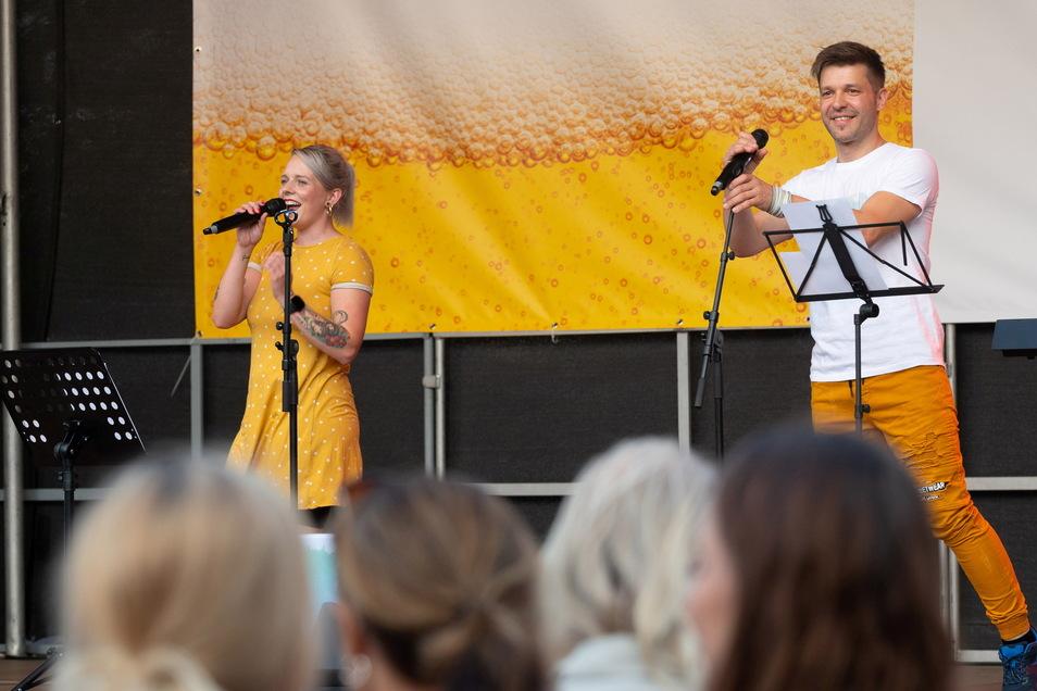 Die Band Ostklang sorgte am Sonnabend auf dem Markt für Stimmung.