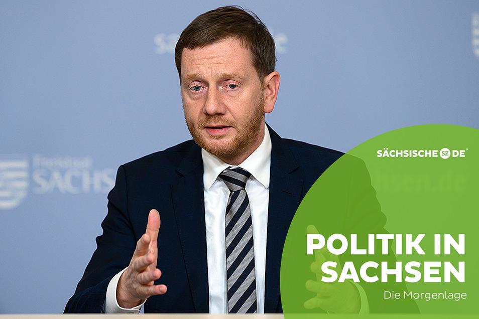 Sachsens Ministerpräsident Michael Kretschmer rechnet mit einer dritten Corona-Welle im Januar.