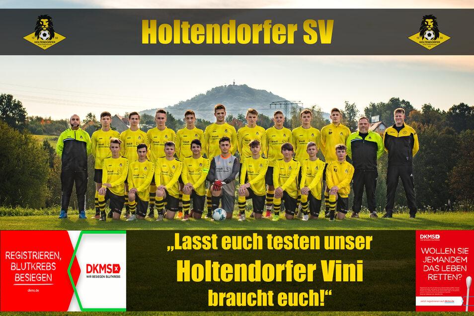 Holtendorfer Fußballer rufen zur Stammzellspende auf.
