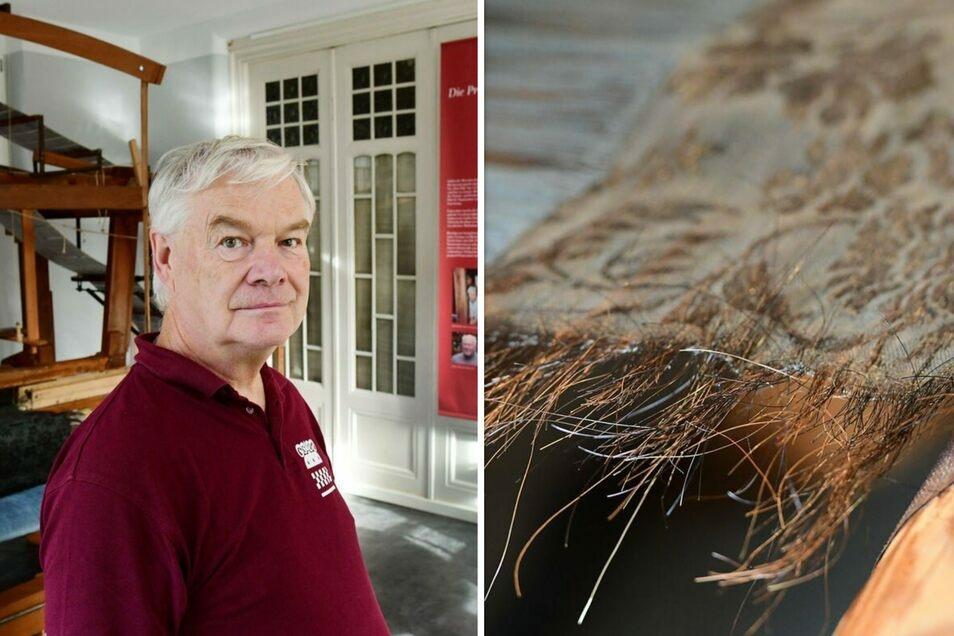 Textilfachmann Wolfgang Winkler erzählt die abenteuerliche Geschichte eines ganz besonders edlen Stoffs.