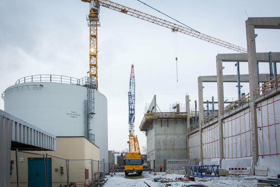 Auf dem Gelände des alten Kraftwerks Reick errichtet die Sachsen-Energie eine hochmoderne Anlage, die sehr flexibel ist.