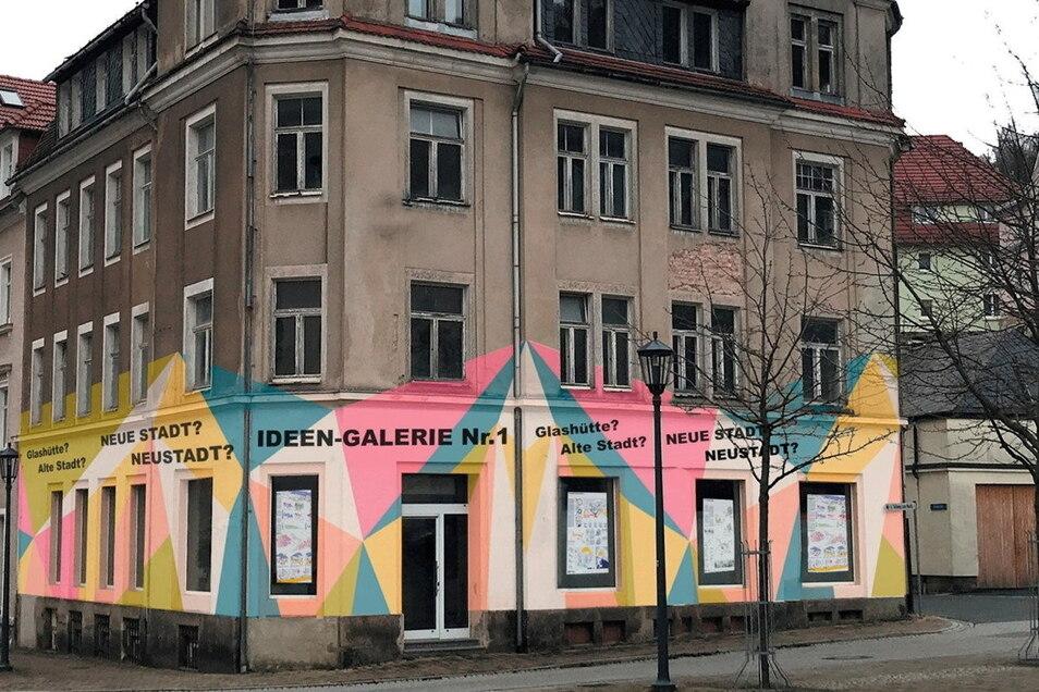 In diesem Gebäude am Moritz-Grossmann-Platz werden die Ideen für Neustadt Glashütte vorgestellt.