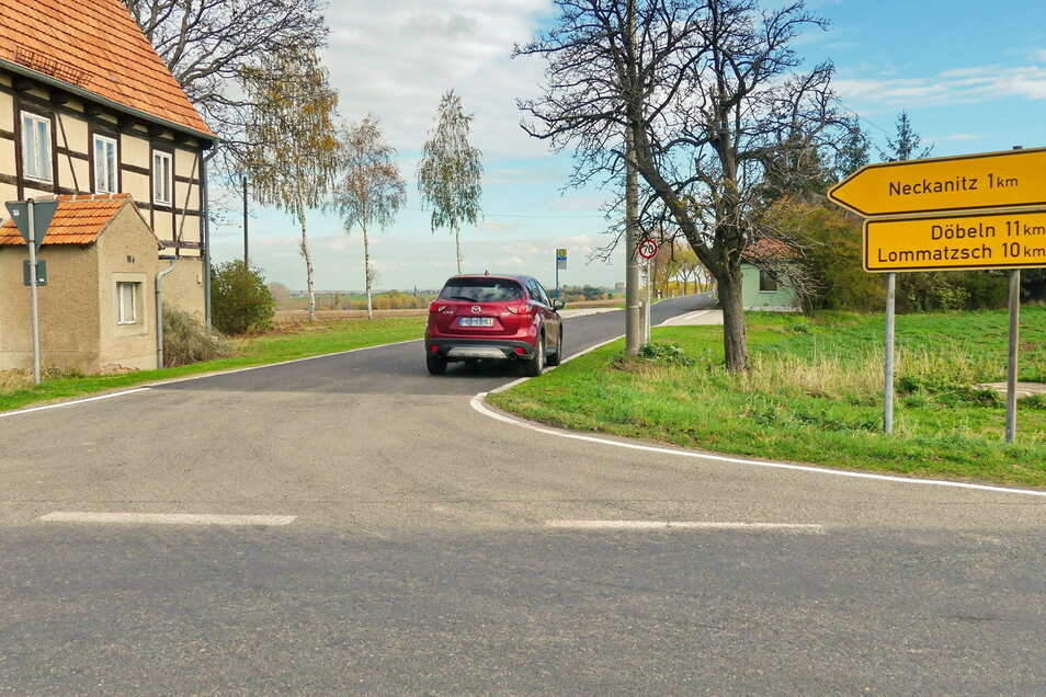 Die Straße Lahme Henne in Lommatzsch wurde im vergangenen Jahr gebaut. Sieben Jahre wartete man auf Fördermittel.