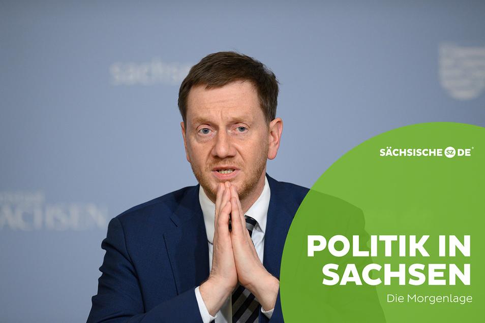 Ministerpräsident Michael Kretschmer mahnt zur Vorsicht bei Lockerungen.