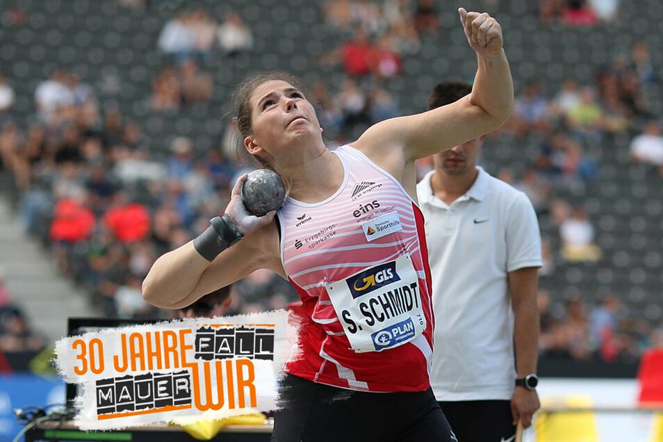 Im August nahm Sarah Schmidt an den Deutschen Leichtathletik-Meisterschaften in Berlin teil. Auch sie wurde, wie die DDR-Spitzensportlerin Sabine John, vom Harthaer Manfred Anker entdeckt.