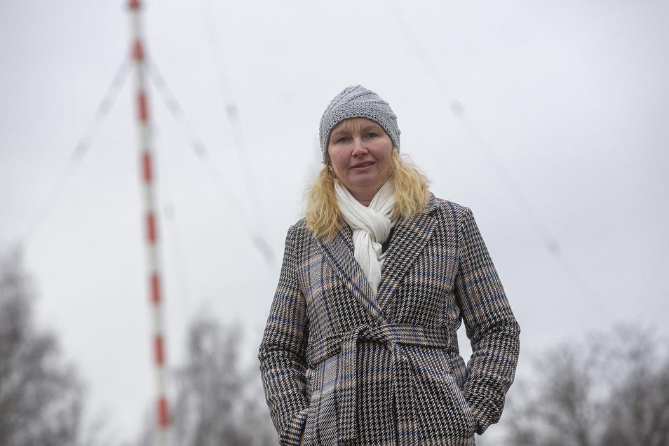 Sabine Neumann vom Förderverein Funkturm