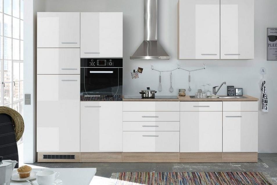 Weiße Hochglanz-Fronten sind der zeitloser Klassiker unter den Küchenfronten.
