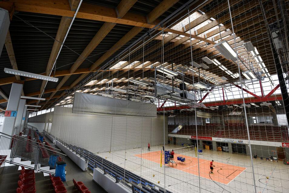Blick in die Margon-Arena in Dresden.