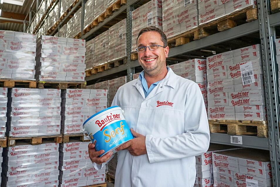 Michael Bischof leitet nicht nur das Bautz'ner-Werk in Kleinwelka, er ist auch Nachhaltigkeitsreferent von Develey. Seit 2020 produziert das Unternehmen klimaneutral.