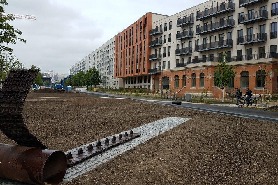 Die Arbeiten am westlichen Abschnitt des Promenadenrings sind weit fortgeschritten. Ab Juni sollen Fußgänger südlich des Postplatzes flanieren können.