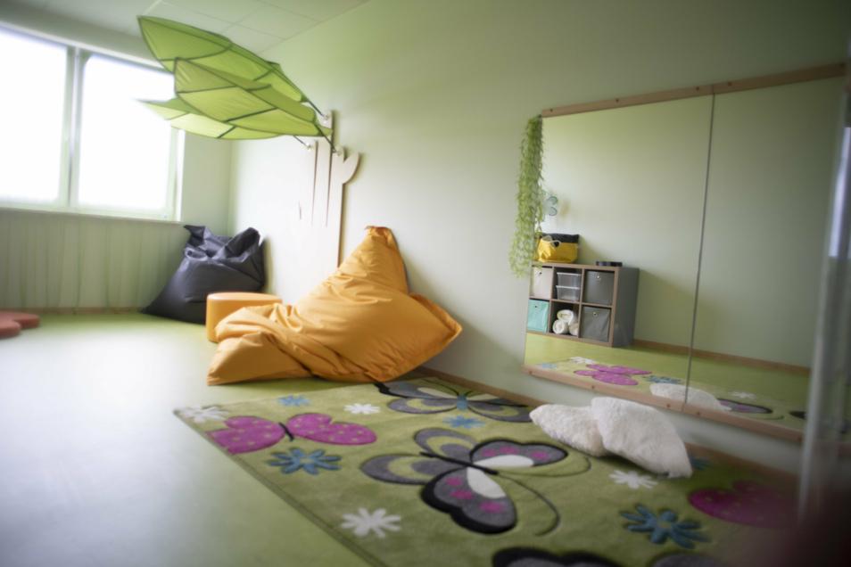 Auch ein Raum zum Entspannen gehört jetzt zum Hort in Räckelwitz.