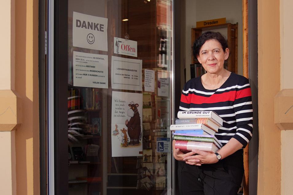 Christine Polak, Inhaberin der Buchhandlung Richters in der Dresdner Neustadt.