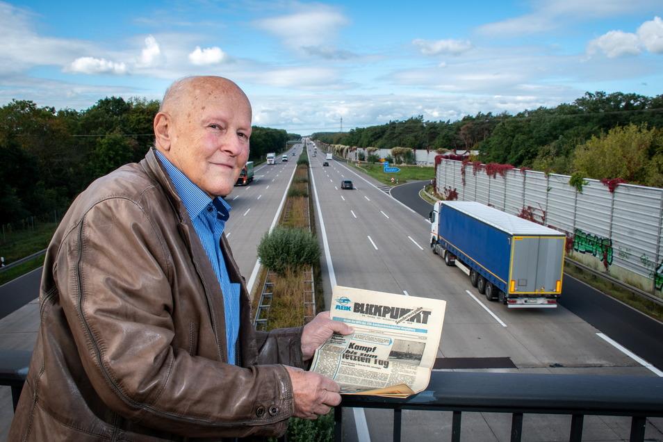 Dr. Hermann Gärlich hat den Bau der Autobahn im Abschnitt Engelsdorf bis Deutschenbora vor 50 Jahren als Bauleiter begleitet.