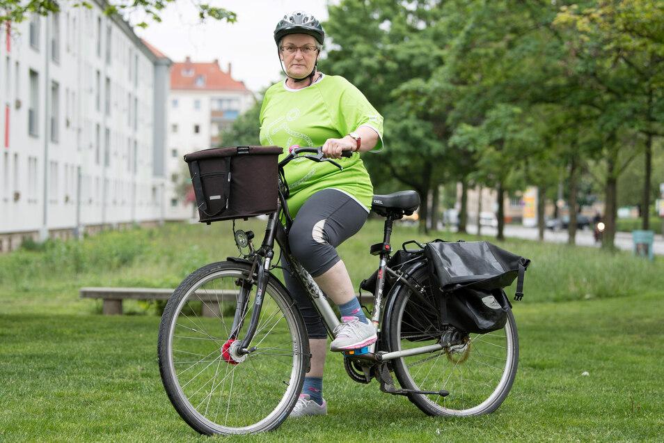 """Natürlich ist sie auch dieses Mal wieder am Start anzutreffen. Simone Hankes größter Wunsch fürs Fahrradfest: """"Die Leute sollten mehr Rücksicht nehmen und nicht so viel drängeln. Das gilt besonders für die E-Bike-Fahrer."""""""