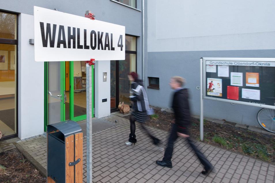 In der Grundschule Ottendorf war bei der Bürgermeisterwahl eins der Wahllokale eingerichtet. Hier werden zu Bundestagswahl im Herbst wieder Wahlhelfer gebraucht.
