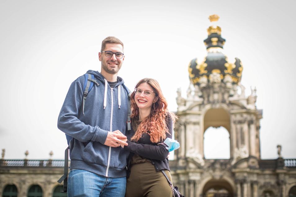 Philipp und Johanna aus Coburg haben sich für einen Sommerurlaub in Dresden entschieden.
