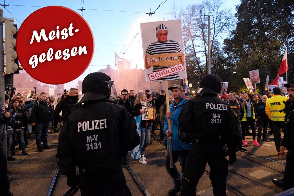 """Die Demonstration der """"Querdenker"""" lief in Leipzig aus dem Ruder. Kann das in Dresden auch passieren?"""