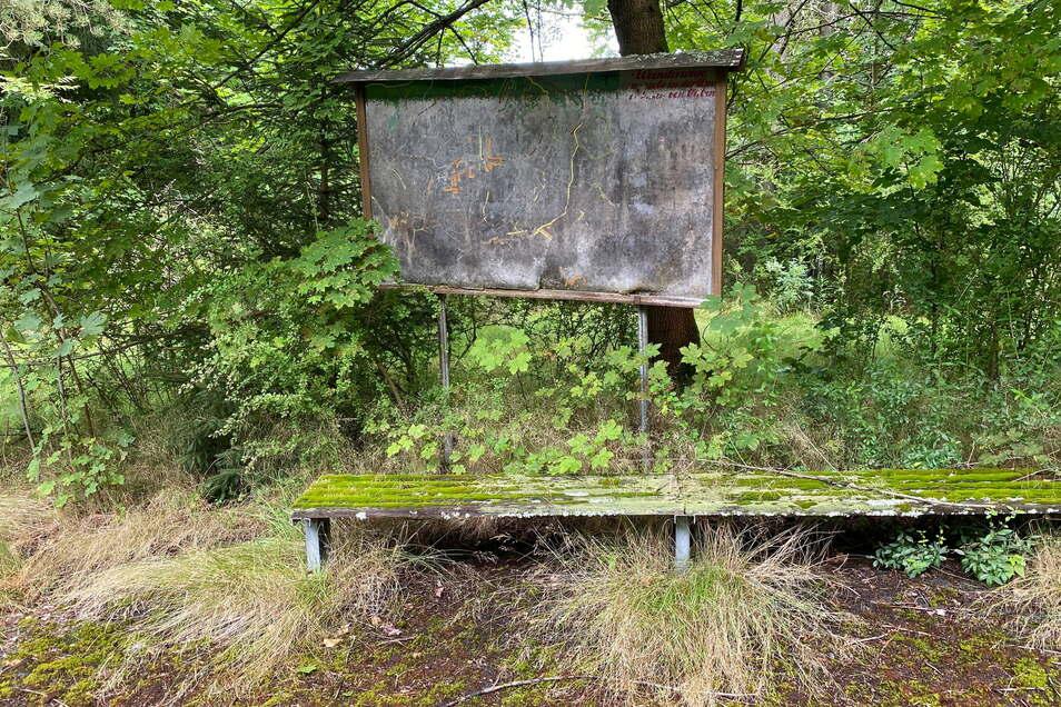 Von der ehemaligen Nutzung als Ferienlager zeugen nur noch verfallene Reste.
