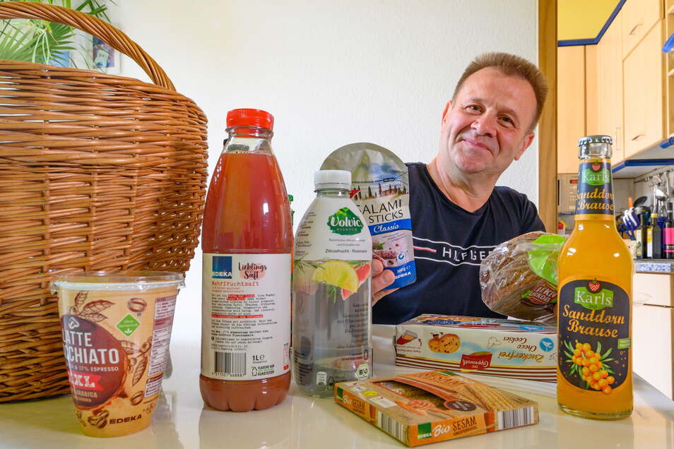 Die Brause und den Fruchtsaft wird Heiko B. seiner Familie überlassen. Als Diabetiker sind für ihn fruchtzuckerhaltige Getränke ungeeignet.