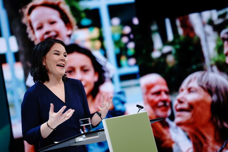 Die Grünen feierten Annalena Baerbock am Montag als neue Kanzlerkandidatin.