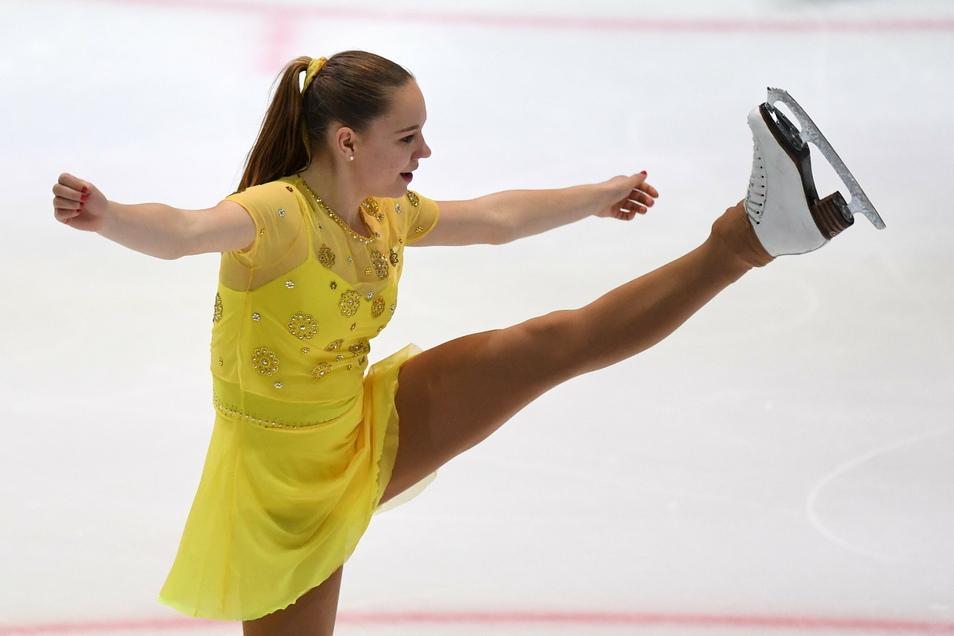 Lea Johanna Dastich ist die derzeit beste Eiskunstläuferin des Dresdner Eislauf-Clubs. Die 20-Jährige startete schon bei der EM, ist derzeit aber verletzt.